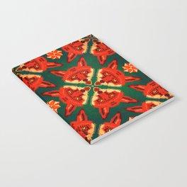 Fox Cross geometric pattern Notebook