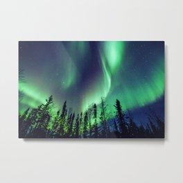 Northern Lights in Yellowknife Metal Print