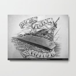 """Rest in Pieces - USS Guardian"" Metal Print"