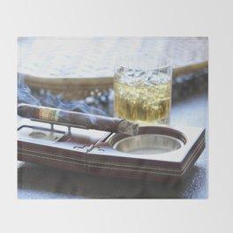 Cigar Time Throw Blanket
