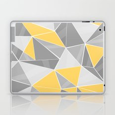 Pattern, grey - yellow Laptop & iPad Skin