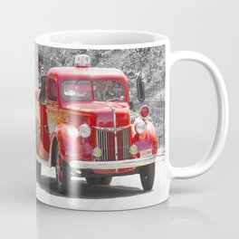 Red Fire Truck Photography Art Coffee Mug