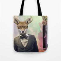 ben giles Tote Bags featuring BEN by Hagara Stuff