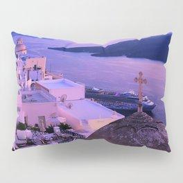 Gorgeous sunset in Santorini Pillow Sham