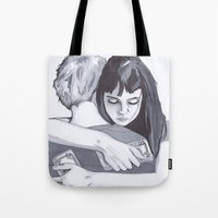 new zealand Tote Bags featuring New Zealand  by artsyape