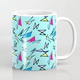 Wacky 80s//BLUE//Geo Pattern #3 Coffee Mug