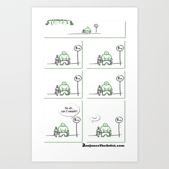 Supers - Smash Art Print