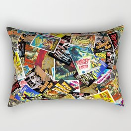 50s Movie Poster Collage #14 Rectangular Pillow