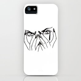 Woman's eyes iPhone Case