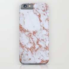 Intense rose gold marble Slim Case iPhone 6s