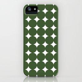 Midcentury Circles and Diamonds 19 iPhone Case