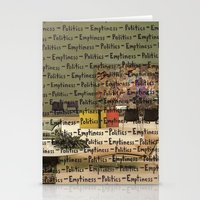 politics Stationery Cards featuring Politics Emptiness by Neil Campau