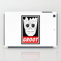 guardians of the galaxy iPad Cases featuring GROOT - GUARDIANS OF THE GALAXY by Yiannis