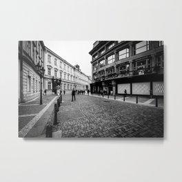 Ovocný trh, Old Town B&W Metal Print