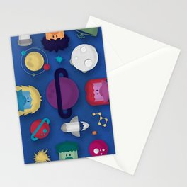 Around the Space Stationery Cards