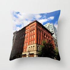 Red Brick City Throw Pillow