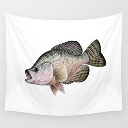 white crappie Wall Tapestry