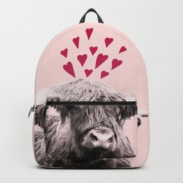 Highland Cow Valentines Day #1 #love #decor #art #society6 Backpack