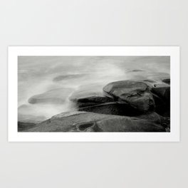 Ocean Waves Against Rockport Granite Art Print
