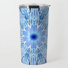 Thinking of You Blue Kaleidoscope Travel Mug