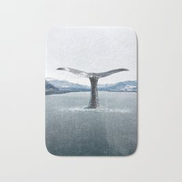 Whale In A French Lake Bath Mat