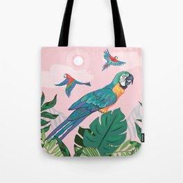 Treetop Parrots Tote Bag