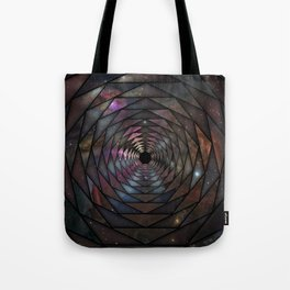 Heptagon space portal Tote Bag
