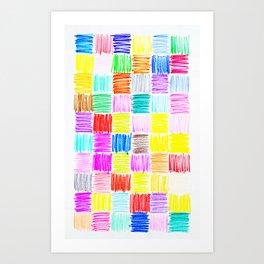 Colored Blocks Art Print