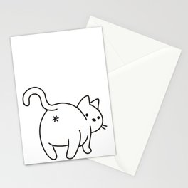 Cat saying goodbye! Stationery Cards