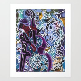 Jazz Bassist Art Print