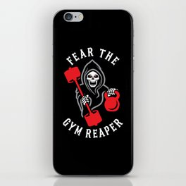 Fear The Gym Reaper iPhone Skin