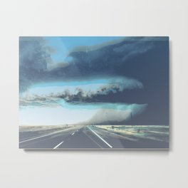 Summer Squall on the Highway, Central New Mexico, 2013 Metal Print