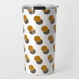 Ginger Dot Spot Geometric Print Travel Mug