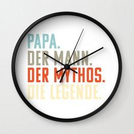 Papa. Mann. Mythos. Die Legende | Witziges Vatertgsgschenk | Geschenk Vatertag Wall Clock