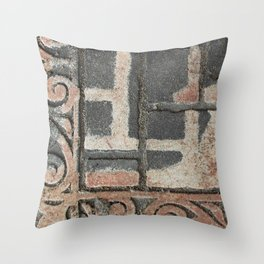 Doormat Throw Pillow