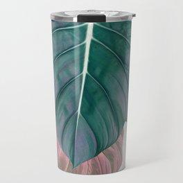 Pastel Leaves Travel Mug