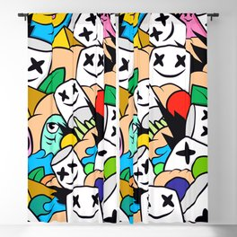 Marshmello Lots Colorful Blackout Curtain