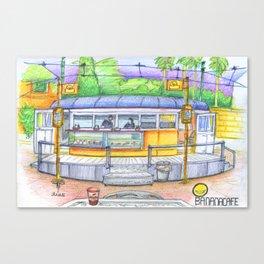 banana cafe Canvas Print