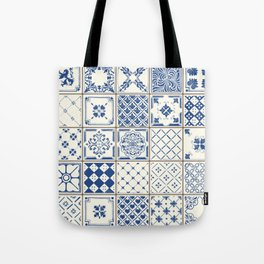 Blue Ceramic Tiles Tote Bag