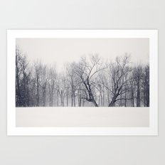 Into the Blizzard Art Print