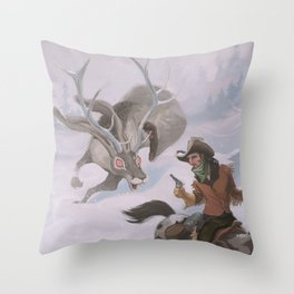Frost - The legend of the snow beast was true Throw Pillow