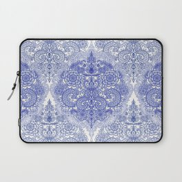 Happy Place Doodle in Cornflower Blue, White & Grey Laptop Sleeve