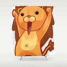 Chibi Lion Shower Curtain