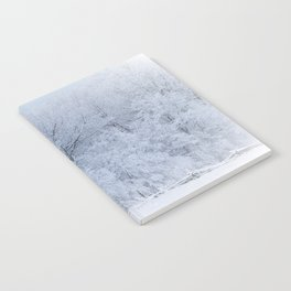 First Snow Fall Fresh Snow on Trees Nature Photography ~ Winter Hush Notebook