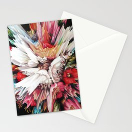 Floral Glitch II Stationery Cards