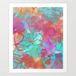 color splatter watercolor digital print Art Print