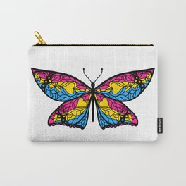 Fly With Pride: Pansexual Flag Butterfly Carry-All Pouch