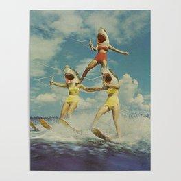 On Evil Beach - Sharks Poster