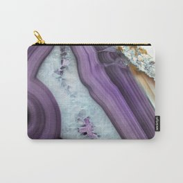 Purple Agate Slice Carry-All Pouch