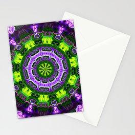 Mandala purple and green Stationery Cards